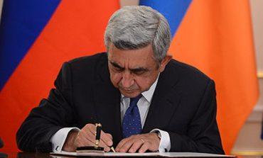 Սերժ Սարգսյանը մի շարք օրենքներ է ստորագրել