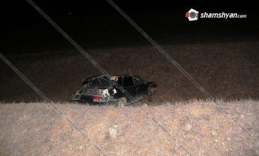 ՖՈՏՈ. Առեղծվածային դեպք Լոռու մարզում. ոլորանում հայտնաբերվել է ВАЗ մակնիշի վթարված ավտոմեքենան, իսկ դրսում՝ վարորդի սառած դին