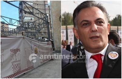«ՀԺ». Գագիկ Բեգլարյանը Երեւանի կենտրոնում նոր տարածքներ է զավթում, նա շինարարություն է սկսել