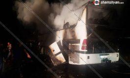 ՖՈՏՈ. Արտակարգ դեպք Տավուշում. Վրաստանից Հայաստան ժամանած մարդատար ավտոբուսում խոշոր հրդեհ է բռնկվել