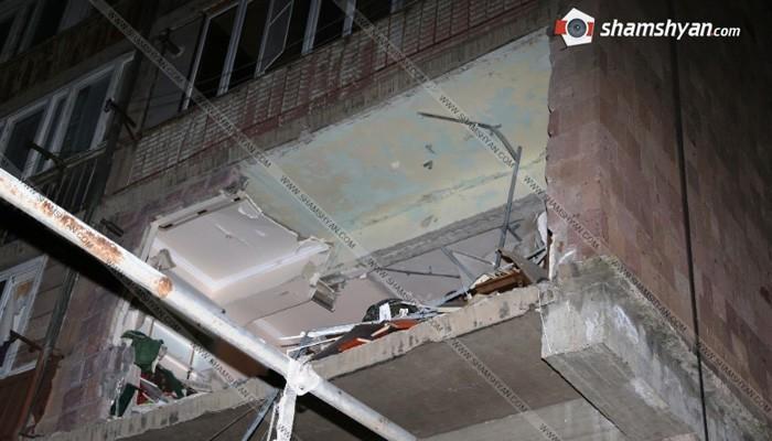 Հրազդանում բնակելի տանը տեղի ունեցած պայթյունի լուսանկարները