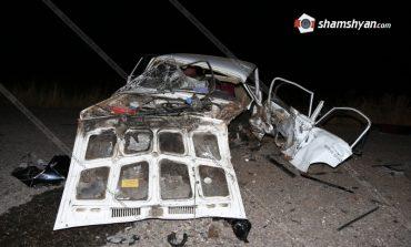 Ողբերգական ավտովթար Կոտայքի մարզում. բախվել են Nissan-ն ու 07-ը. կա 1 զոհ, 2 վիրավոր