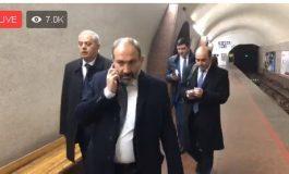 Փաշինյանը Երևանի մետրոպոլիտենում է