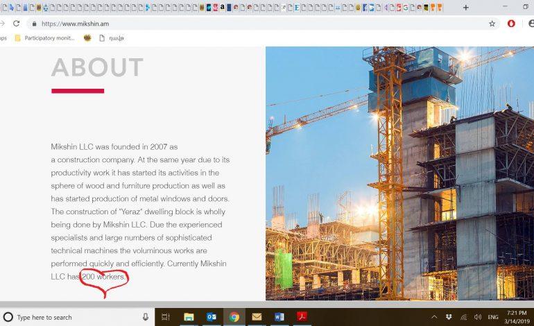 Վեց  աշխատողով շինարարություն ա, որ անում են, իսկ ՊԵԿ-ը աչք է փակում