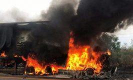Բագրատաշենի մաքսատան մոտ 14.5 տոննա զուգագուլպա տեղափոխող բեռնատար է այրվել