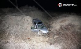ՖՈՏՈ. Խոշոր ավտովթար Արմավիրի մարզում. 53–ամյա վարորդը Mercedes-ով մի քանի պտույտ շրջվելով՝ հայտնվել է ձորակում