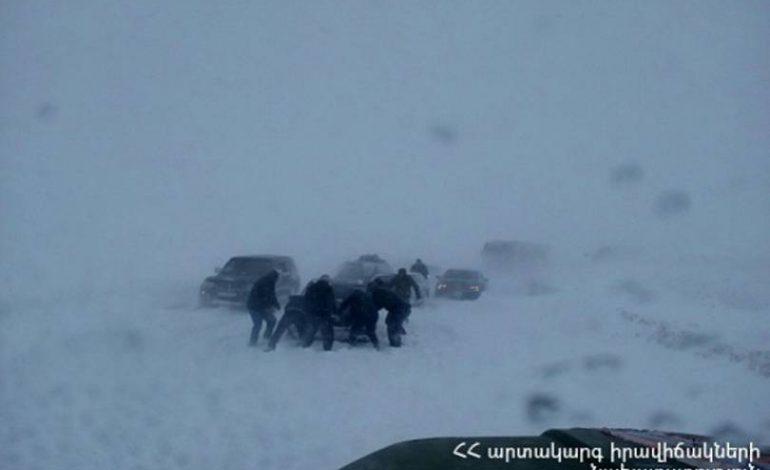 Զույգաղբյուր-Կարմրավան ավտոճանապարհին արգելափակման մեջ էր մնացել 485 ուղևոր