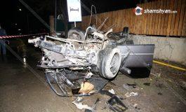 ՖՈՏՈ. «Կասկադյորական» ավտովթար Կոտայքի մարզում. 31-ամյա վարորդը Mercedes-ով գլխիվայր շրջվել է