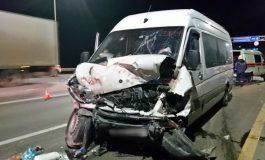 ՖՈՏՈ. Հայաստանից Մոսկվա ընթացող միկրոավտոբուսը վթարի է ենթարկվել ՌԴ տարածքում. կան տուժածներ