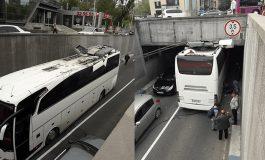 Երեւանի Վարդանանց փողոցում վրացական ավտոբուս է վթարի ենթարկվել