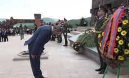 Ուղիղ. Հայաստանի և Արցախի ղեկավարությունը Ստեփանակերտում մասնակցում է եռատոնի միջոցառումներին