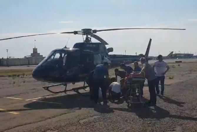ՏԵՍԱՆՅՈՒԹ. Վրաստանում ողբերգական վթարից տուժածներից մեկը սանավիացիայի ուղղաթիռով տեղափոխվում է Հայաստան