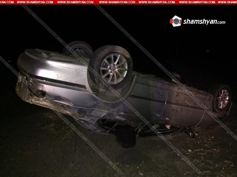 ՖՈՏՈ. Ողբերգական ավտովթար Արմավիրի մարզում․ 28-ամյա վարորդը տեղում մահացել է