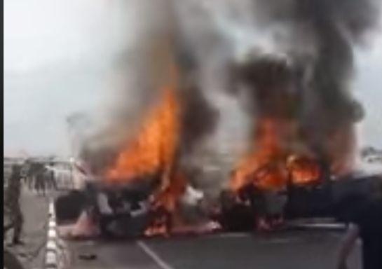 Ինչպես են մարդիկ ողջ-ողջ այրվում «ԳԱԶԵԼ»-ի մեջ. ողբերգական ավտովթարի նոր տեսանյութը