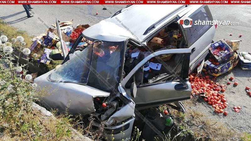 ՖՈՏՈ. Սպիտակի ոլորաններում 64-ամյա վարորդը գյուղմթերքով բարձած Opel-ով բախվել է պարսպին․ նա տեղում մահացել է