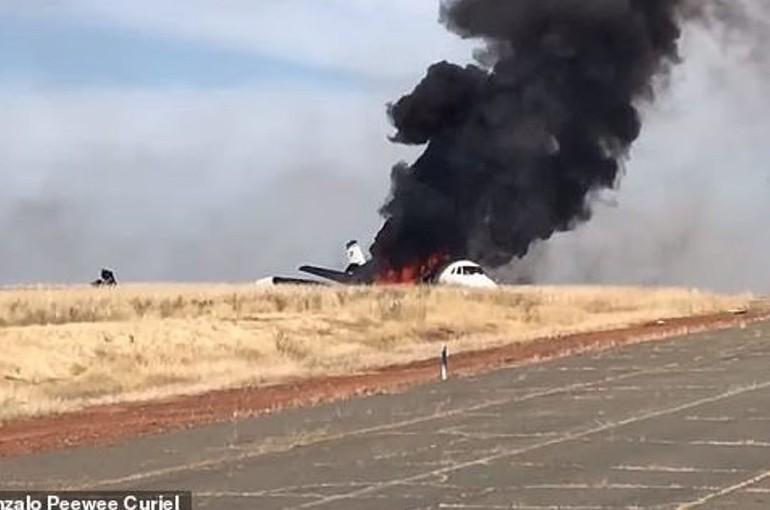 ՖՈՏՈ. ՏԵՍԱՆՅՈՒԹ. Կալիֆոռնիայում ուղևորատար ինքնաթիռ է այրվել