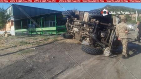 Տավուշի մարզում շրջվել է զինծառայողների տեղափոխող բեռնատարը. 11 հոգի տեղափոխվել է հիվանդանոց