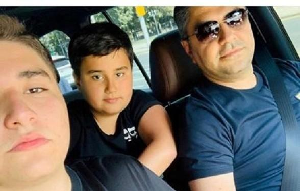 ԱԱԾ տնօրեն Արթուր Վանեցյանն իր որդիների հետ այսօր մեկնեց Արցախ