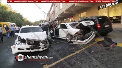 Խոշոր ավտովթար՝ Երեւանում. Երեք մեքենա վերածվել են մետաղե ջարդոնի