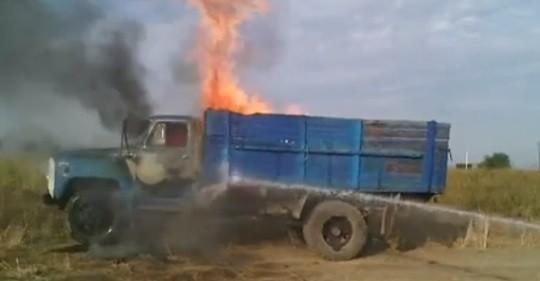 ՏԵՍԱՆՅՈՒԹ. Արտակարգ դեպք Արմավիրի մարզում. «ԳԱԶ-53» մակնիշի մեքենան հրդեհվել է