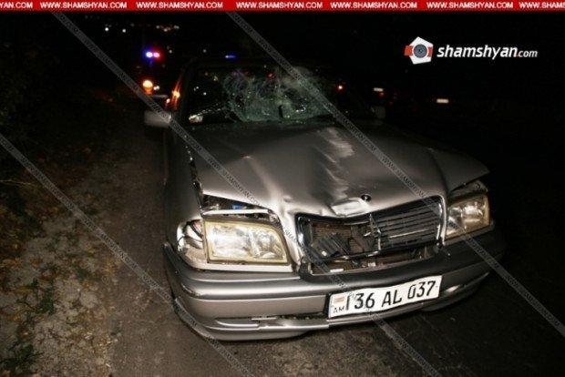 «Օջախ» ռեստորանի դիմաց Mercedes-ը վրաերթի է ենթարկել հարսանիքի մասնակիցներից մեկին. Նա տեղում մահացել է