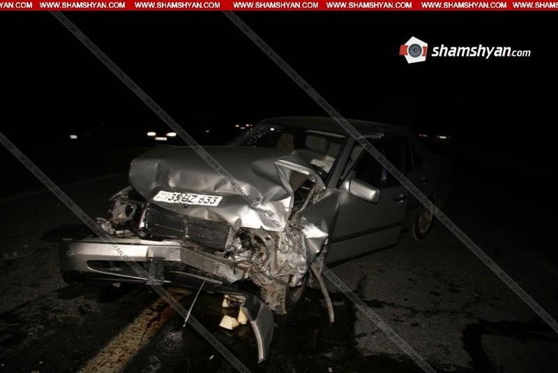 Խոշոր վթար Արմավիրի մարզում. բախվել են զինծառայողների մեքենաներ