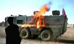 ՏԵՍԱՆՅՈՒԹ. Սիրիայում այրել են Ռուսաստանի պարեկային ծառայության շարասյան մեքենան