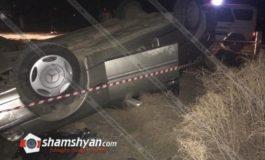 Բախվել են Երևան-Թբիլիսի մարդատար գնացքն ու Mercedes-ը. վերջինը, գլխիվայր շրջվելով, հայտնվել է ձորակում