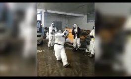 ՏԵՍԱՆՅՈՒԹ. Ինչպես են բժշկական պաշտպանիչ հագուստներով լեզգինկա պարում
