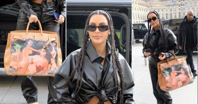 ՖՈՏՈ. Քիմ Քարդաշյանը Փարիզում շրջել է շուրջ 40.000 դոլար արժեցող «անպարկեշտ» պայուսակով