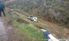 Երեւան-Սեւան ճանապարհին Արծվի արձանի մոտ Hyundai Veloster-ը բախվել է պատնեշին ու 10 մետր սահել ձորը
