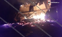 Խոշոր հրդեհ Արցախում. զինվորների սիրելի «Օմարի լեռնանցք» ռեստորանը վերածվել է մոխրակույտի