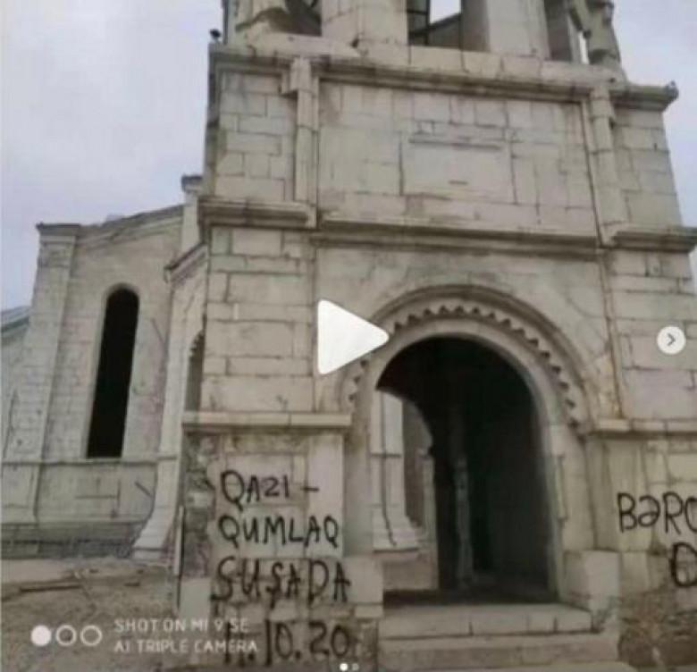ՖՈՏՈ. Ադրբեջանցիները պղծել են Շուշիի Ղազանչեցոց եկեղեցին